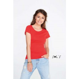MIA WOMEN'S ROUND-NECK FITTED T-SHIRT