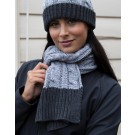 Shades of Grey Knitted Scarf
