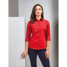 LADIES' ¾ SLEEVE POPLIN BLOUSE