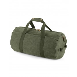 Vintage Canvas Barrel Bag