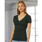 Women's Triblend Deep V-Neck T-Shirt