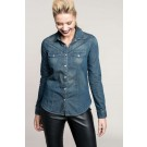 LADIES' LONG-SLEEVED DENIM SHIRT