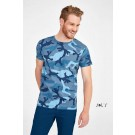 CAMO MEN ROUND COLLAR T-SHIRT